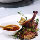 Chargrilled Iberico pork rib ($26.80/portion) is marinated simply with garlic and served with a piquant mala dip.