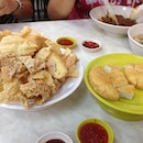 Fried fish cake, and fried tofu skin to go with!