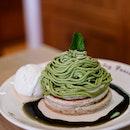 Matcha Montblanc Pancake