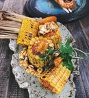 Best sweet corns that I've ever had ❤️ | smoked paprika buttered sweet corn, caramel popcorn and chimichurri