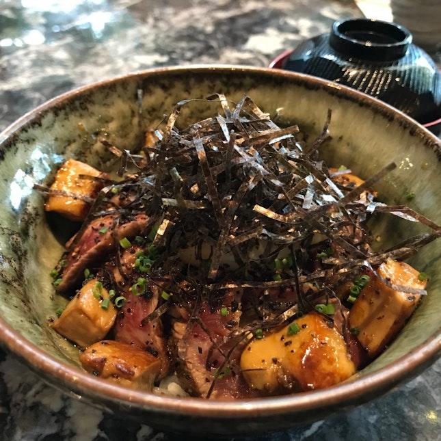 Foie Gras Bifuteki Lunch Set