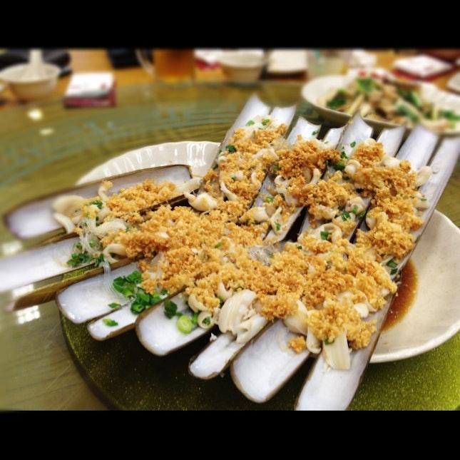 Bamboo Clams with Garlic