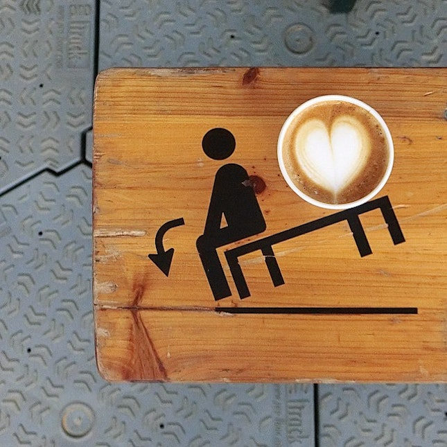Accept the reality that you are heavier than a cup of coffee.