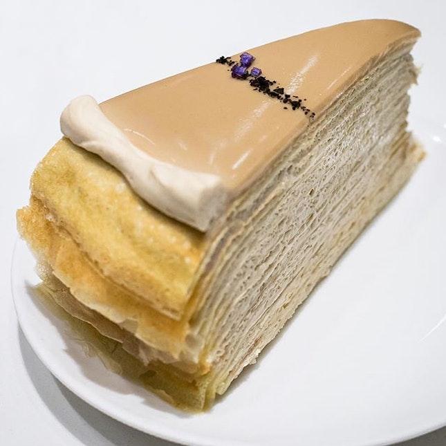 Earl Grey Mille Crêpe cake ($9.0)