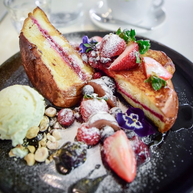 French Toast With Berries Etc.