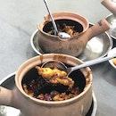 Frog Claypot Porridge ($30)