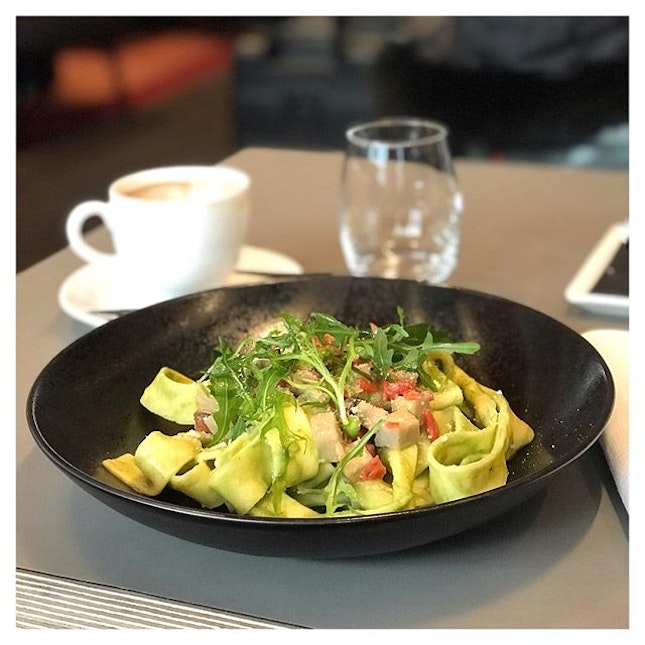 Last meal I decided to have in Paris was a plate of Pappardelle which was made in house, and comes with artichoke cream and parmesan cheese.