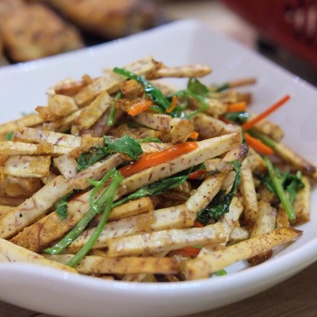 Wok Fried Fragrant Yam 香炒芋头 ($8)