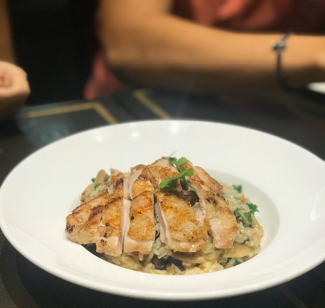Grilled Chicken & Mushroom Risotto ($23)