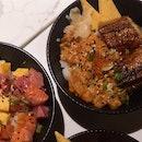 Half Spicy Salmon Half Unagi Don ($18.90)
