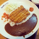 #Japanese Pork katsu curry rice from Monster Curry at Food Republic(: #katsu #Japanese #Asian #asianfood #dinner #delicious #curry #japanesecurry #katsu #sogood