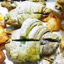 My treat to the colleagues - the newly launched Matcha Azuki Croissants from @3petitscroissants!