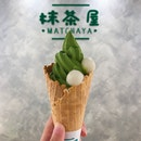Matcha Soft Serve With Shiratama