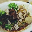 Mushroom Minced Meat Noodles