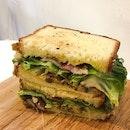 Bacon Mushroom Sandwich