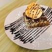 Single Waffle with Rock Melon Ice-Cream