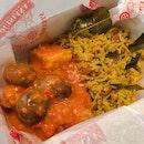 Fish wth Pilaf Rice and Singaporean Chili Crab Sauce