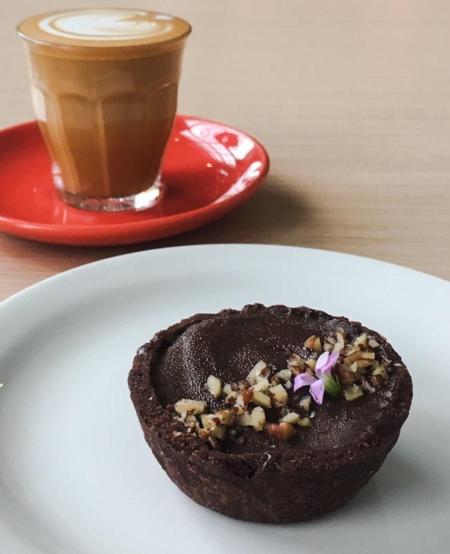 Chocolate, Caramel and Pecan Tart
