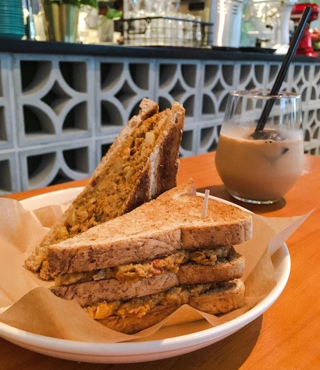 Triple Decker Otah Sandwich