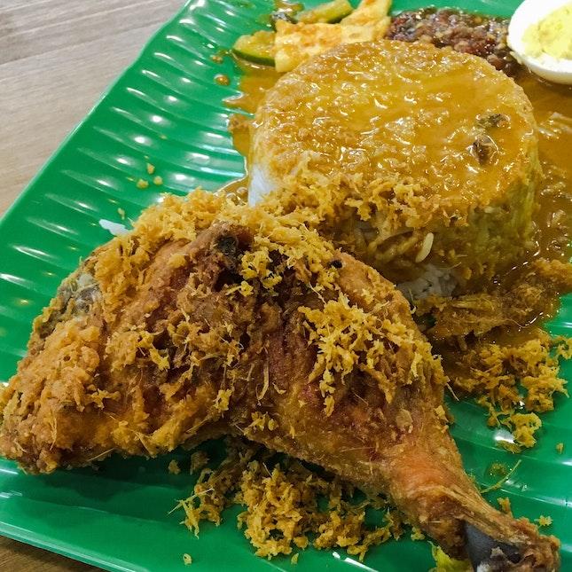 Crispy Fried Chicken Nasi Kukus