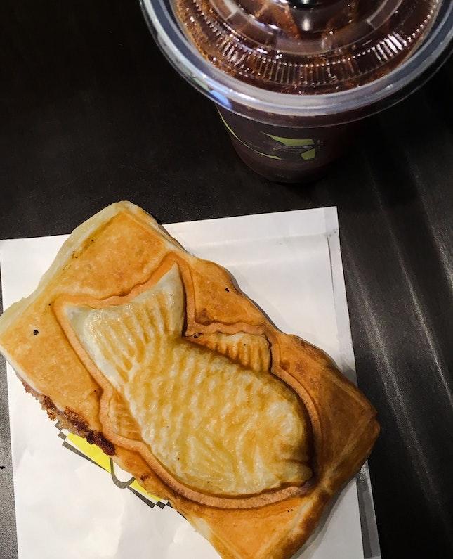 Azuki and Durian Croissant Taiyaki