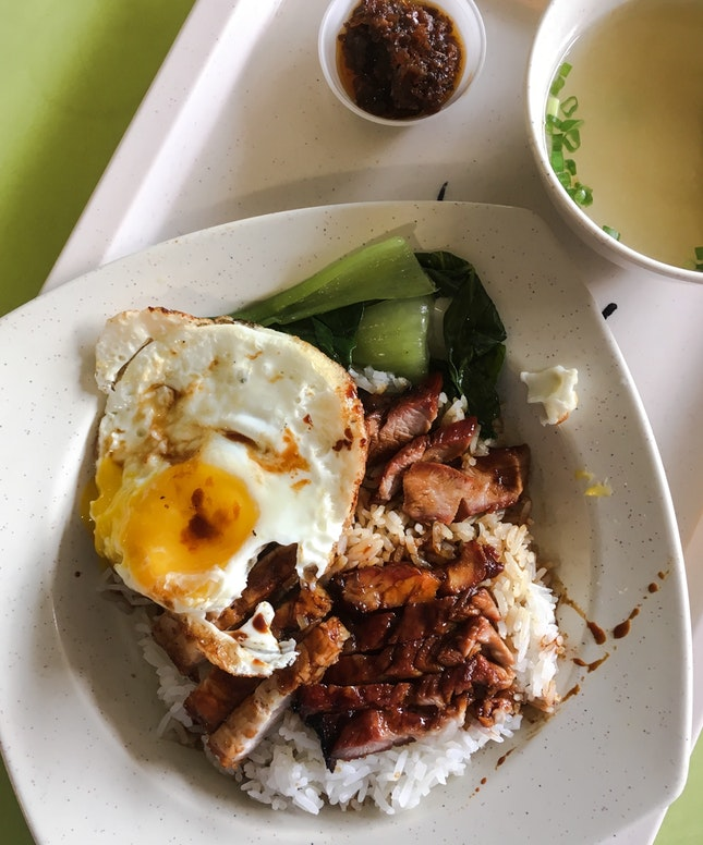Special Char Siew Rice with Fried Egg