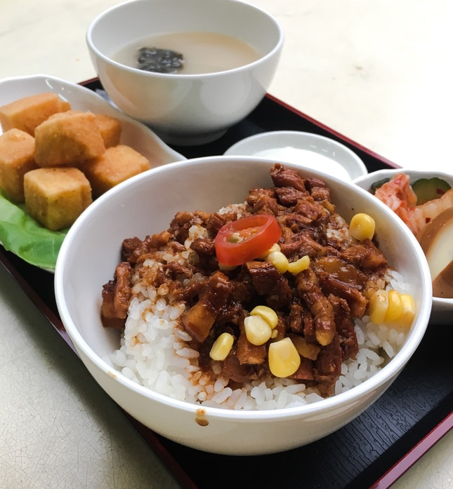 13 Spices Crisp-Fried Tofu, Lu Rou Fan
