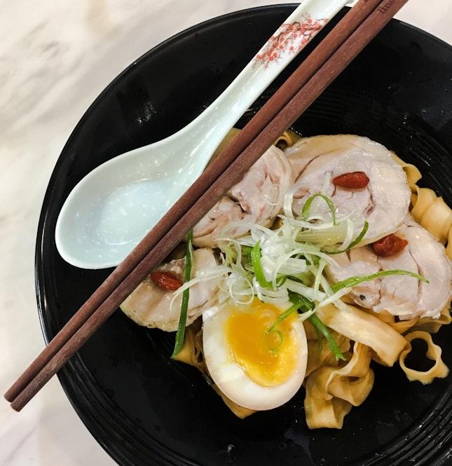 Truffle Noodles Drunken Chicken Set with Lava Egg