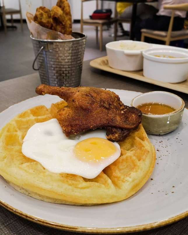 Duck Confit and Waffles