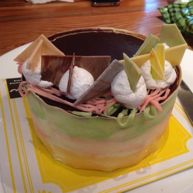 Chocolate Green Tea Cake