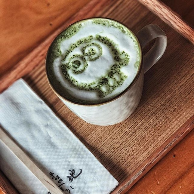 Matcha Latte💚🍃🍵 • What is this latte art?