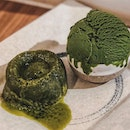 • [NEW]  1️⃣ Lava Cake [Matcha/Chocolate] with a choice of either Matcha/Hokkaido Milk gelato - SGD 8.80 💚🍵🍃 • The harmony of warm, gooey lava cake with a generous scoop of level 3 matcha gelato is immensely satisfying.