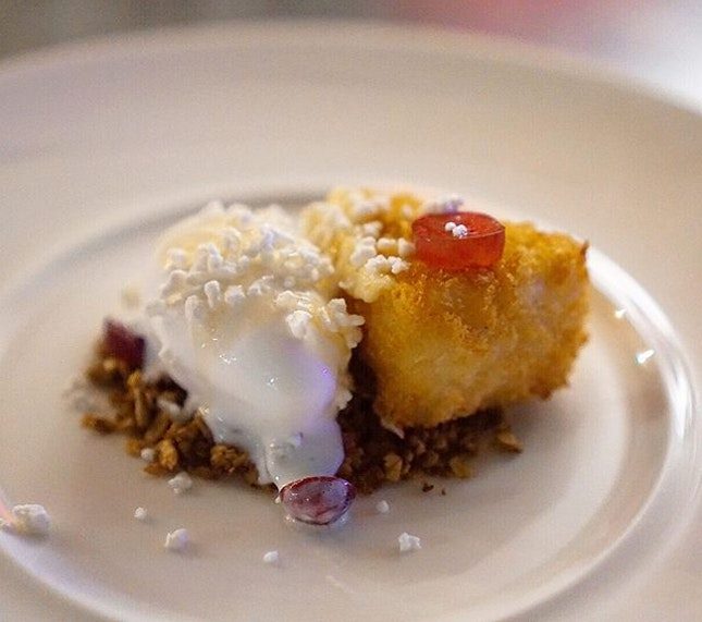 Rounded up with their signature dessert, deep fried Camembert with yoghurt ice-cream ($9.9).