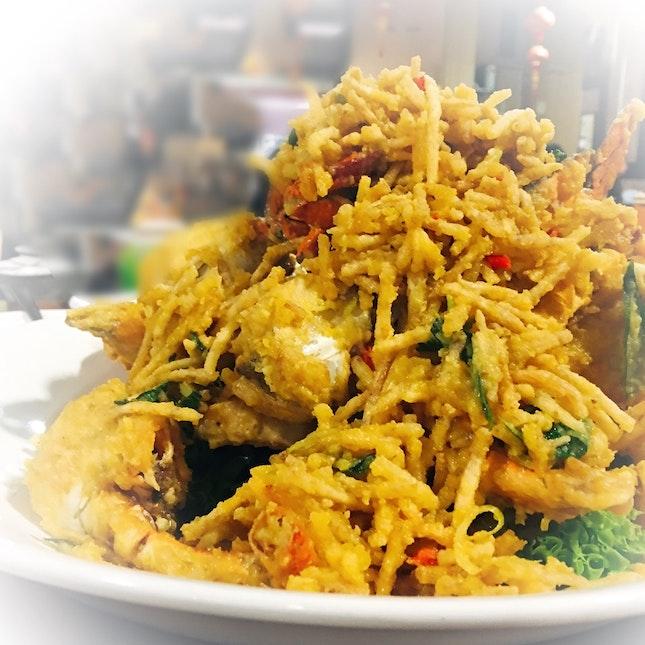 Crispy Yam Salted Egg Crab ($60/kg)
