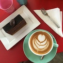 Life is almost perfect with a cuppa coffee & a slice of cake 😉😋