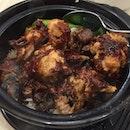 Claypot Rice with Chicken and Mushroom