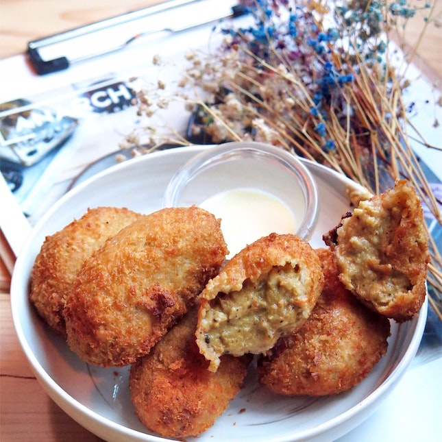 Mussel Fritters with Yuzu Miso [$15]