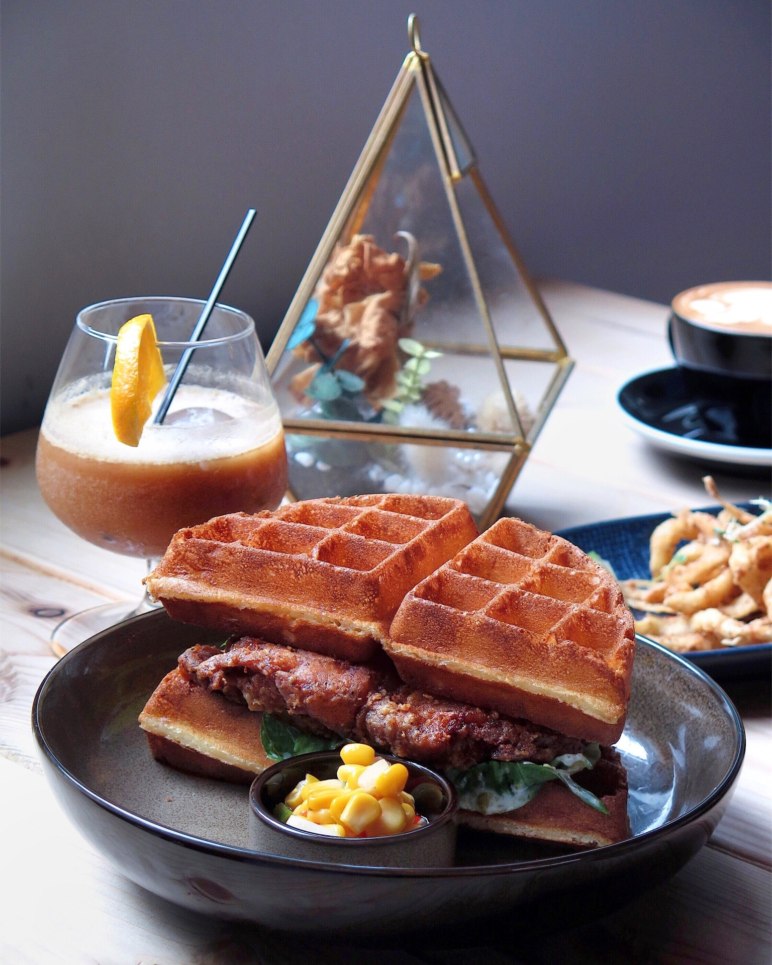 Southern Fried Chicken Waffle [$16]