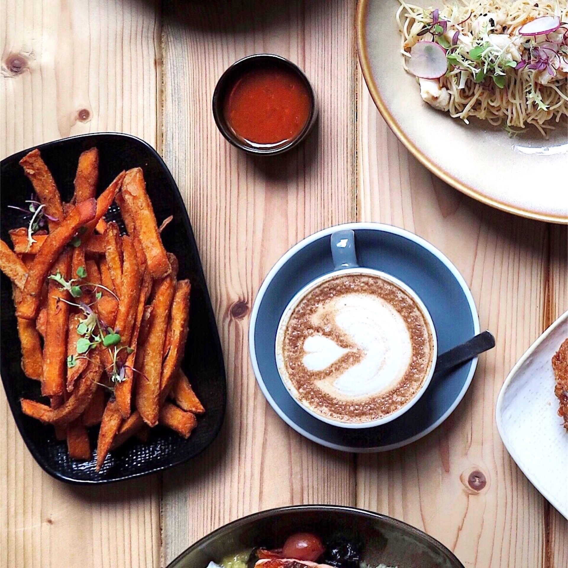 Sweet Potato Fries with Masala Seasoning [$11]