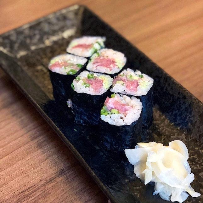 Negitoro Maki: Chopped Fatty Tuna with Spring Onion [$18]