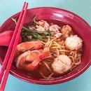 Signature Prawn Village Noodles Soup [$4]