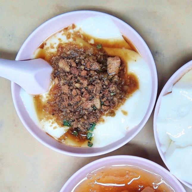 咸豆花 Saltish Bean Curd [$2.50]