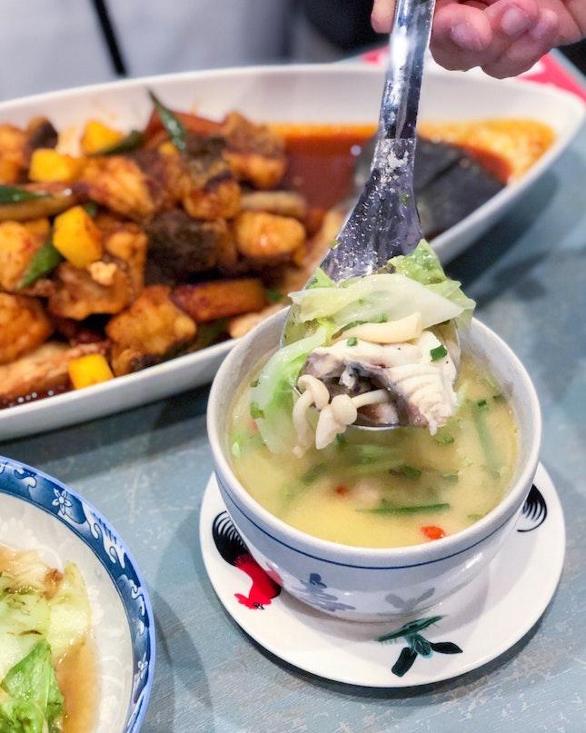 Chef Joel's Brandy White Fish Soup 招牌白兰地白鱼汤 [$11.80]