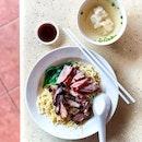 Char Siew Duck Noodle + Wanton 叉烧鸭面 + 云吞 [$5 + $0.50]