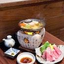Pork Shabu-shabu Oroshi Hotpot [$22]