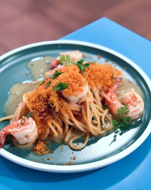 Spaghetto Bottarga E Gamberi [$25]