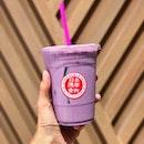 Iced Purple Sweet Potato Latte [$3.20]