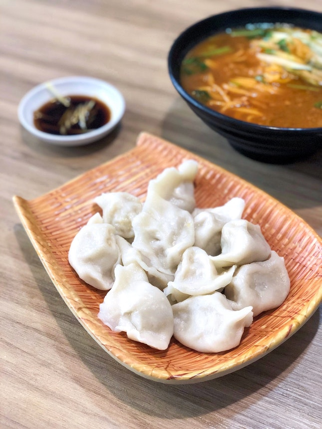酸菜猪肉水饺 Sauerkraut Pork Dumplings [$7 for 12]