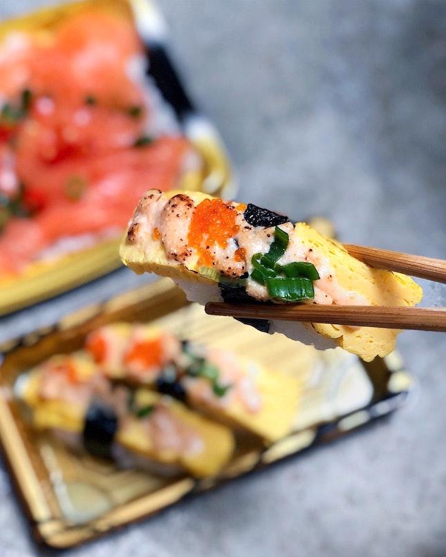 Tamago Mentai Sushi [$4.20]