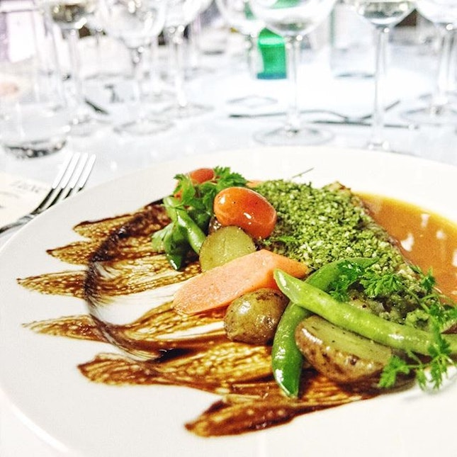 Herb Crusted Halibut Fillet by Luxe Catering.